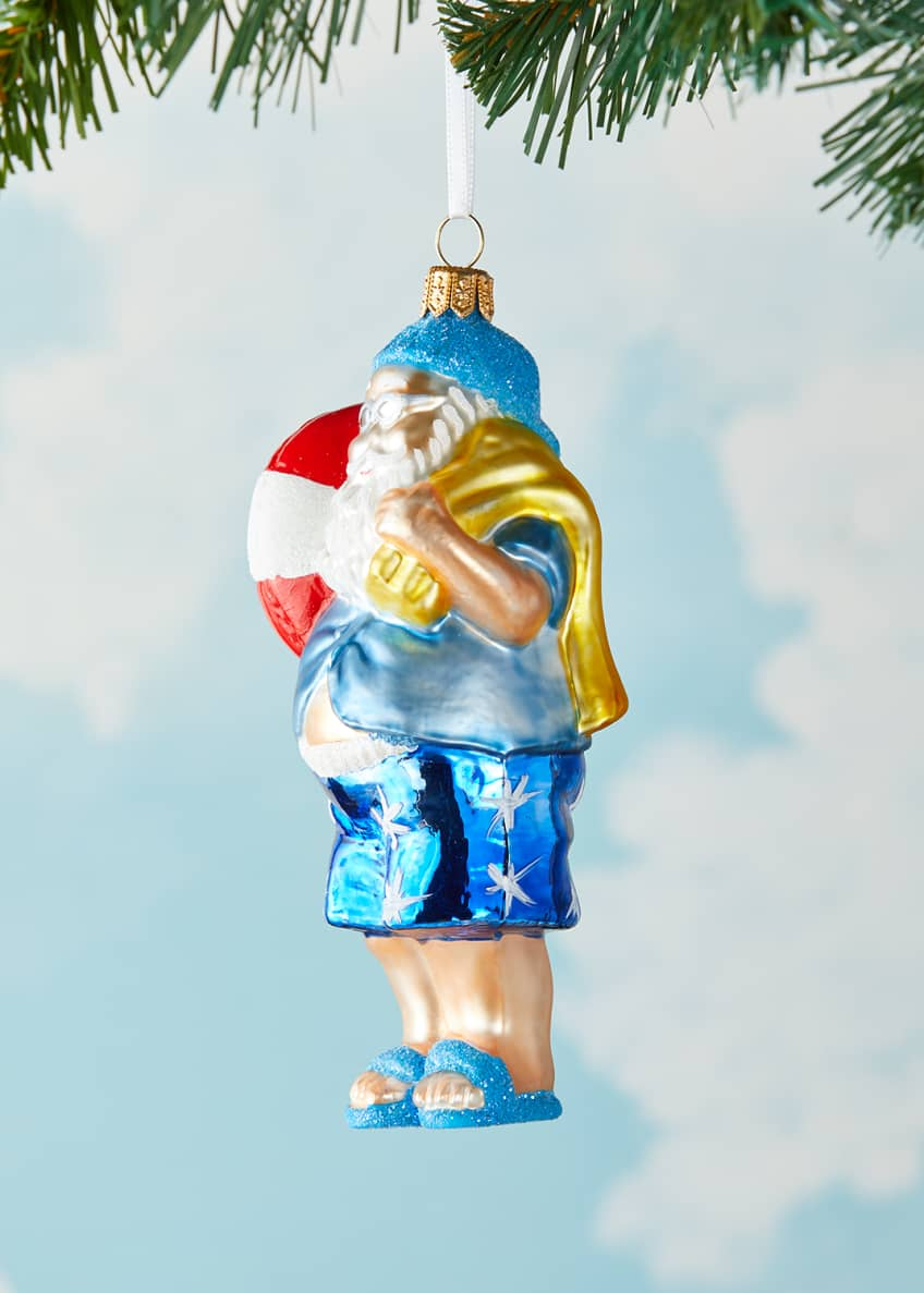 Image 3 of 3: Swim Santa Christmas Ornament