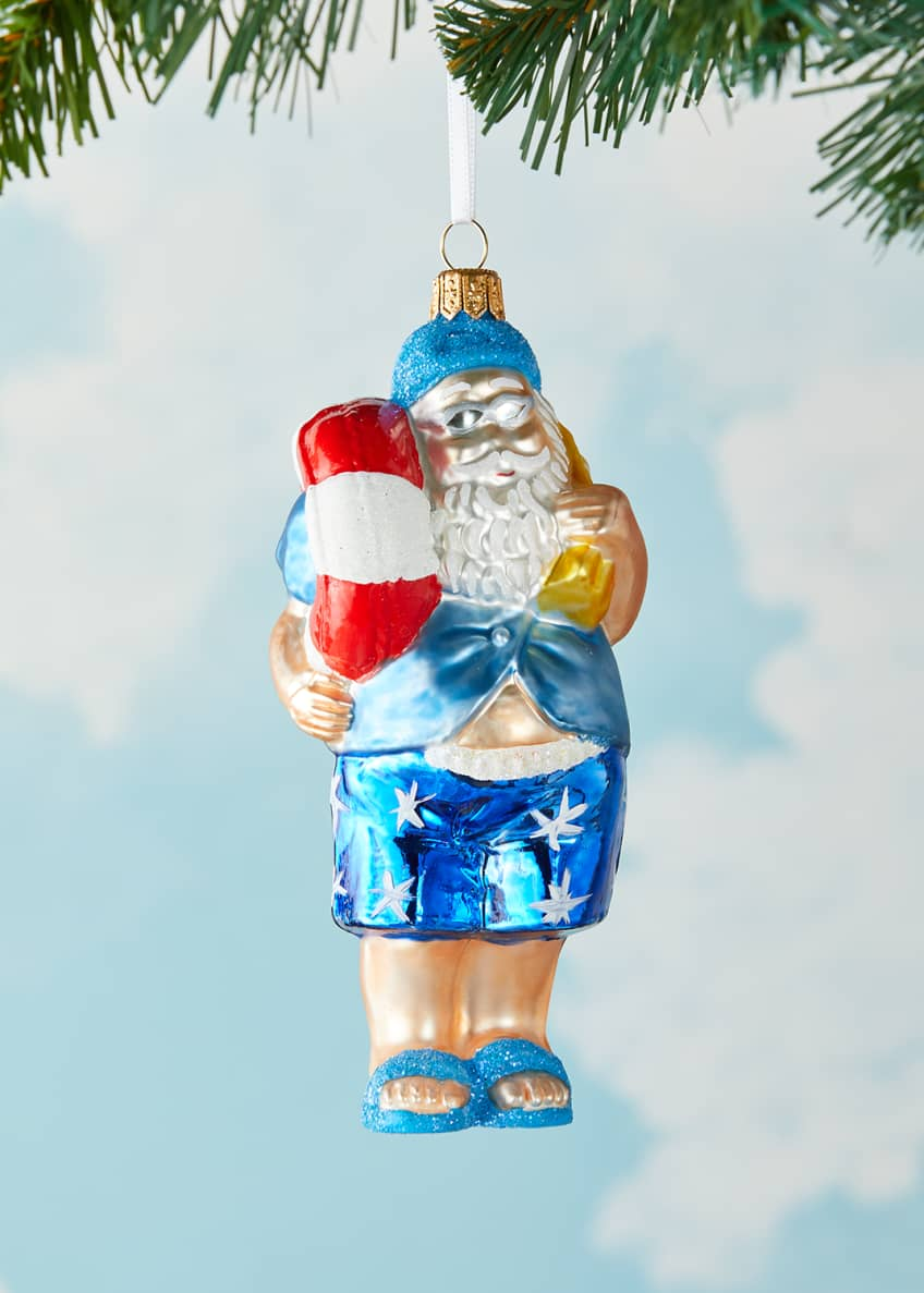 Image 1 of 3: Swim Santa Christmas Ornament