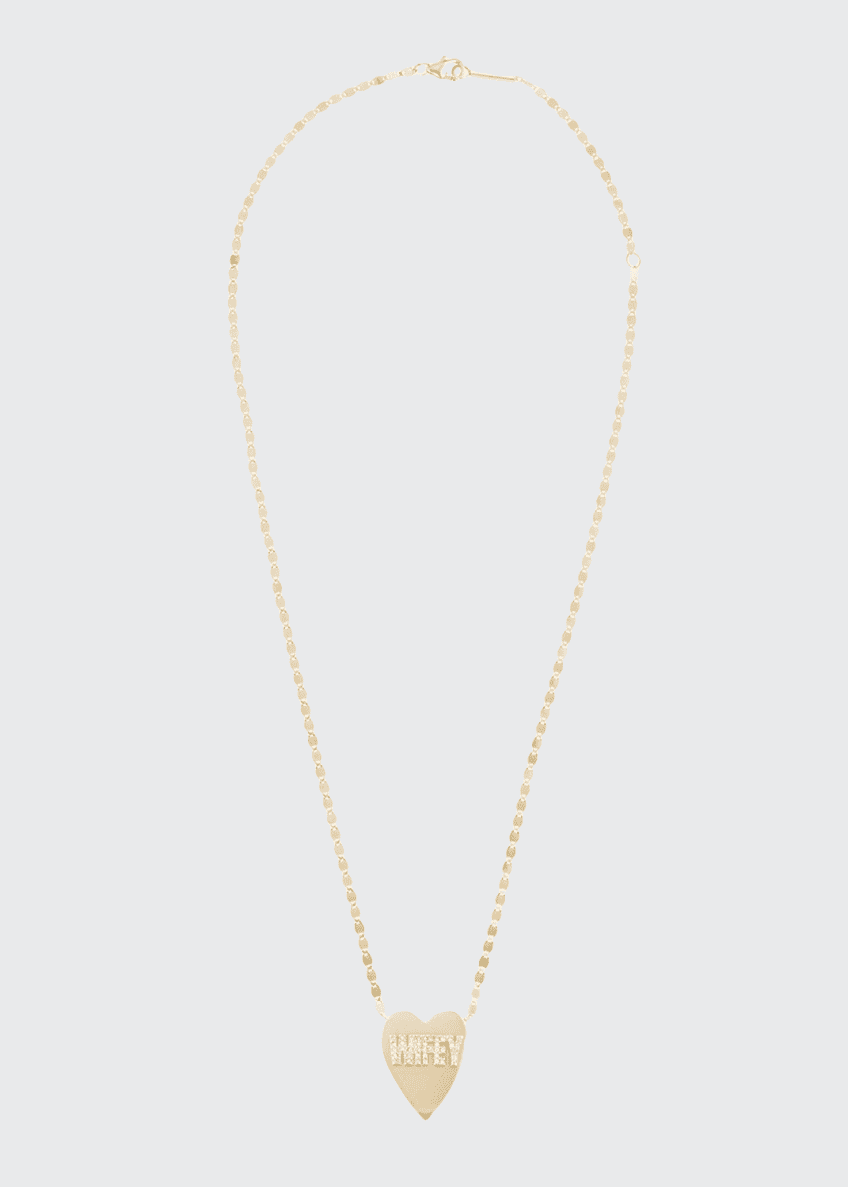 Image 1 of 2: 14k Wifey Heart Pendant Necklace