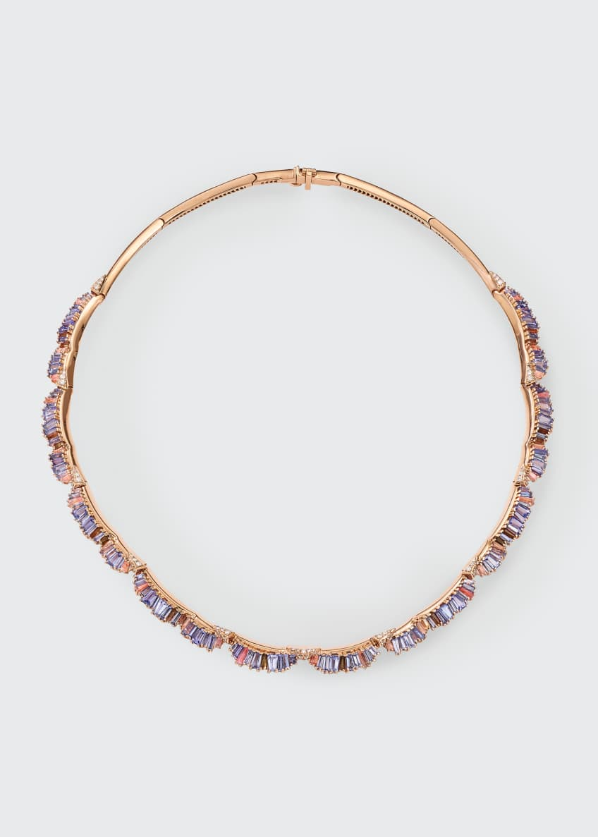 Image 1 of 1: Ruched Multi-Stone Necklace