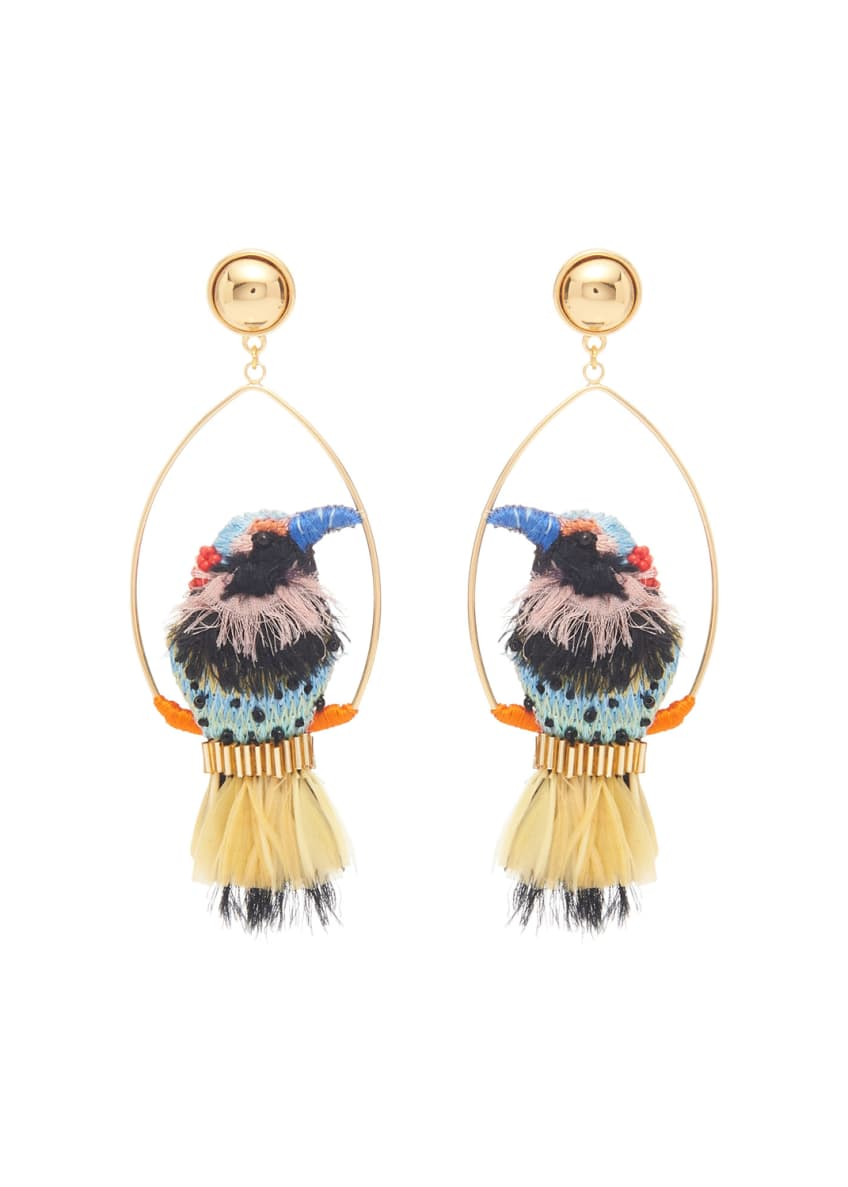 Image 1 of 1: Woodpecker Swing Earrings