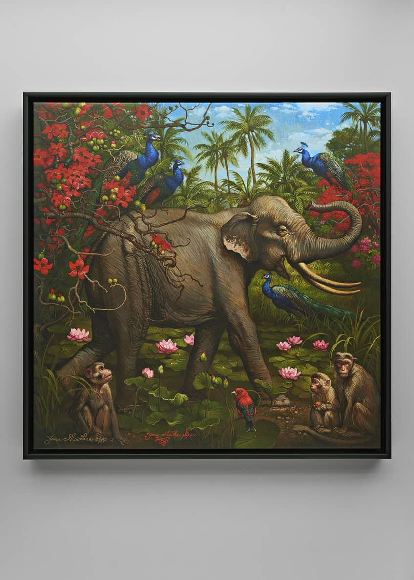 "Image 1 of 2: ""Jungle of Happiness"" Giclee Art"