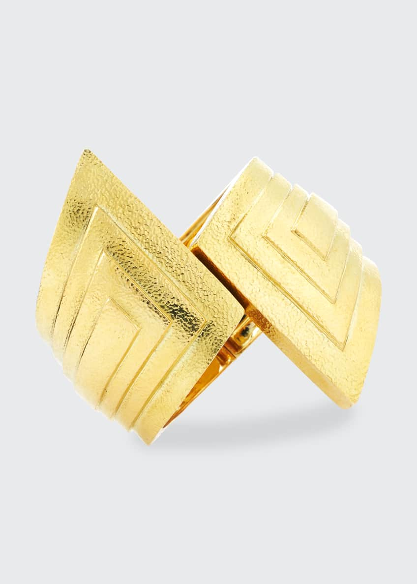 Image 1 of 1: 18k Step Cuff Bracelet