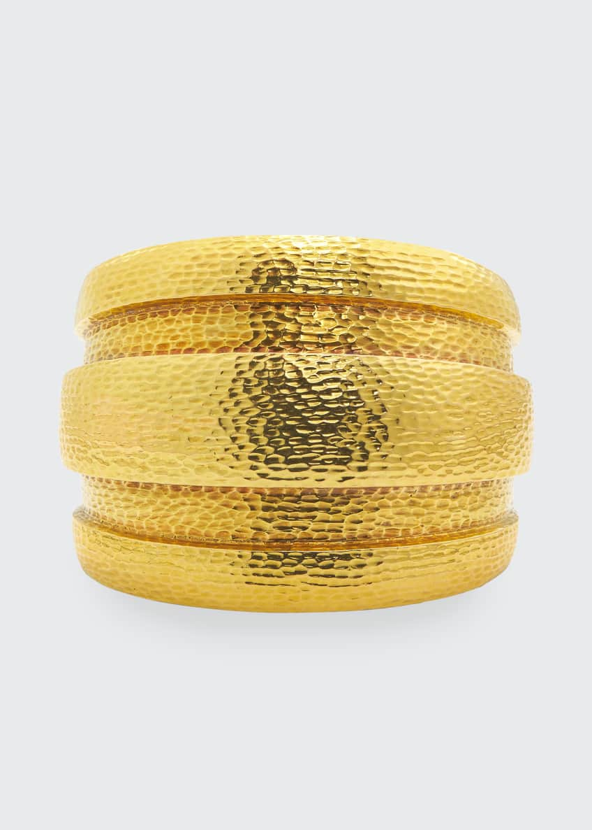 Image 1 of 1: 18k Barrel Cuff Bracelet