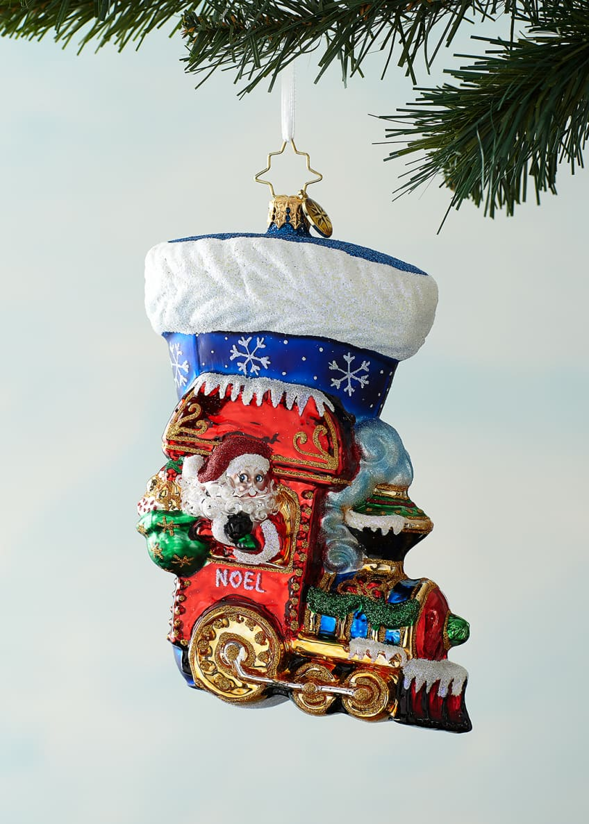 Image 1 of 1: Noel Express Stocking Christmas Ornament