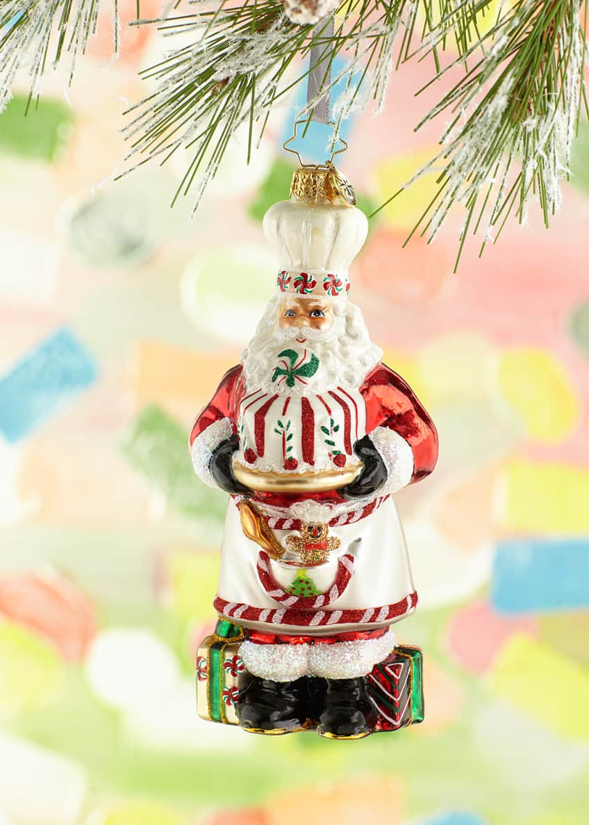 Image 1 of 1: Baked With Love Santa Christmas Ornament