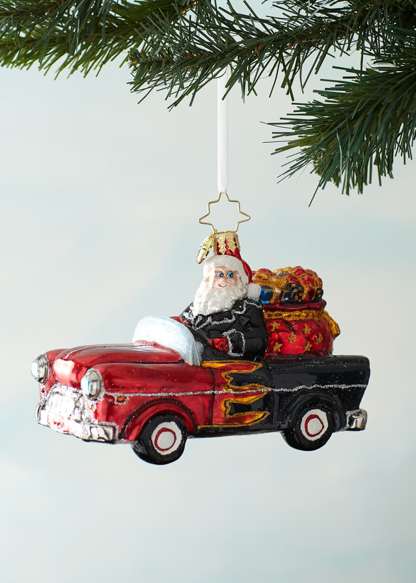Image 1 of 1: Speeding Into Christmas Ornament