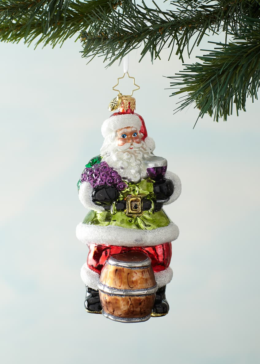 Image 1 of 2: Sommelier Santa Christmas Ornament