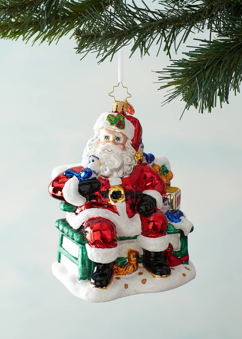 Image 1 of 2: Santa's Happy Place Christmas Ornament