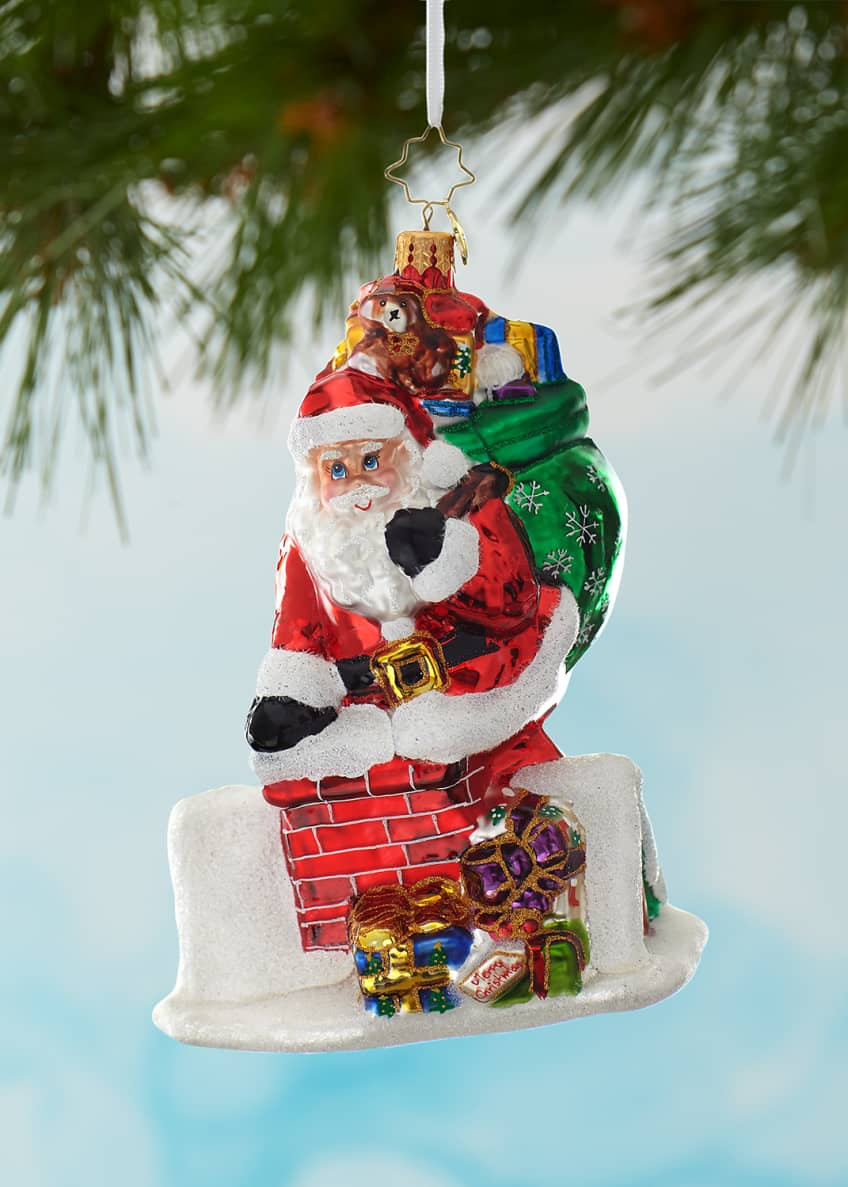 Image 1 of 1: Down The Hatch Santa Christmas Ornament