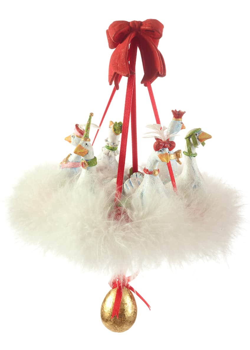Image 1 of 2: 6 Geese A-Laying Ornament