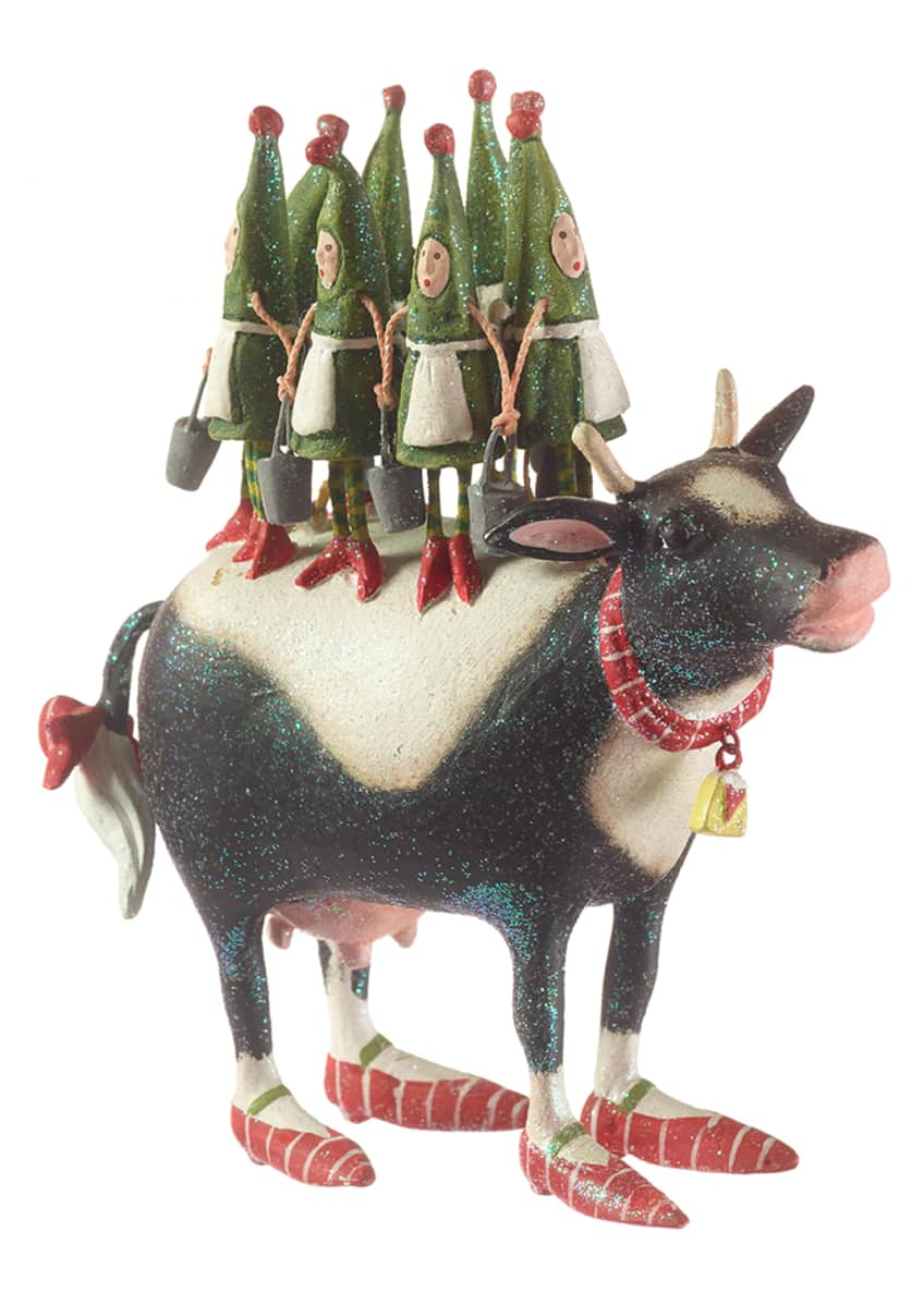 Image 1 of 2: 8 Maids A-Milking Ornament