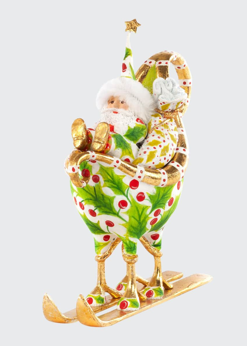 Image 1 of 1: Dash Away Santa in Sleigh Ornament