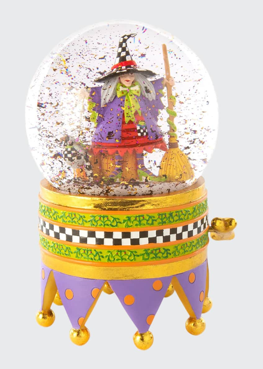 Image 1 of 1: Raggedy Witch Crystal Ball Globe