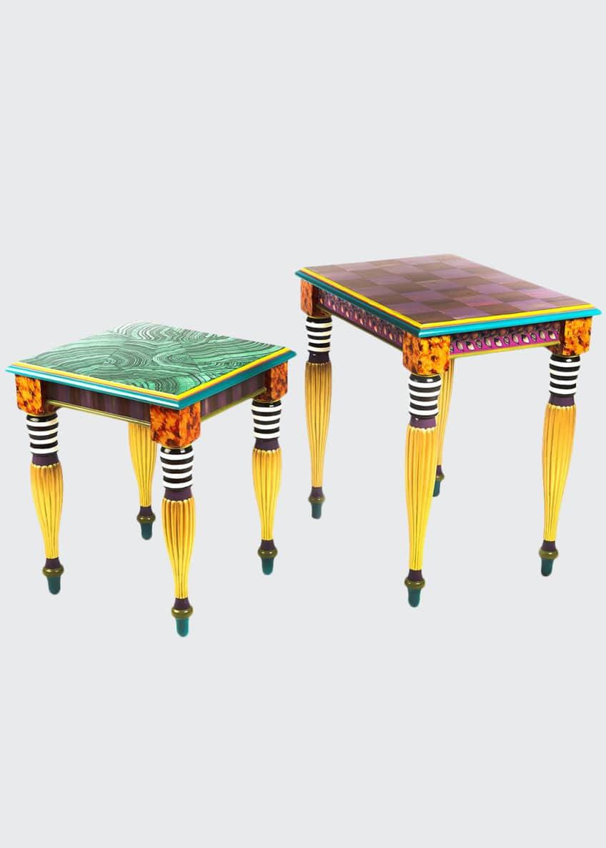 Image 1 of 2: Paradise Nesting Tables, Set of 2