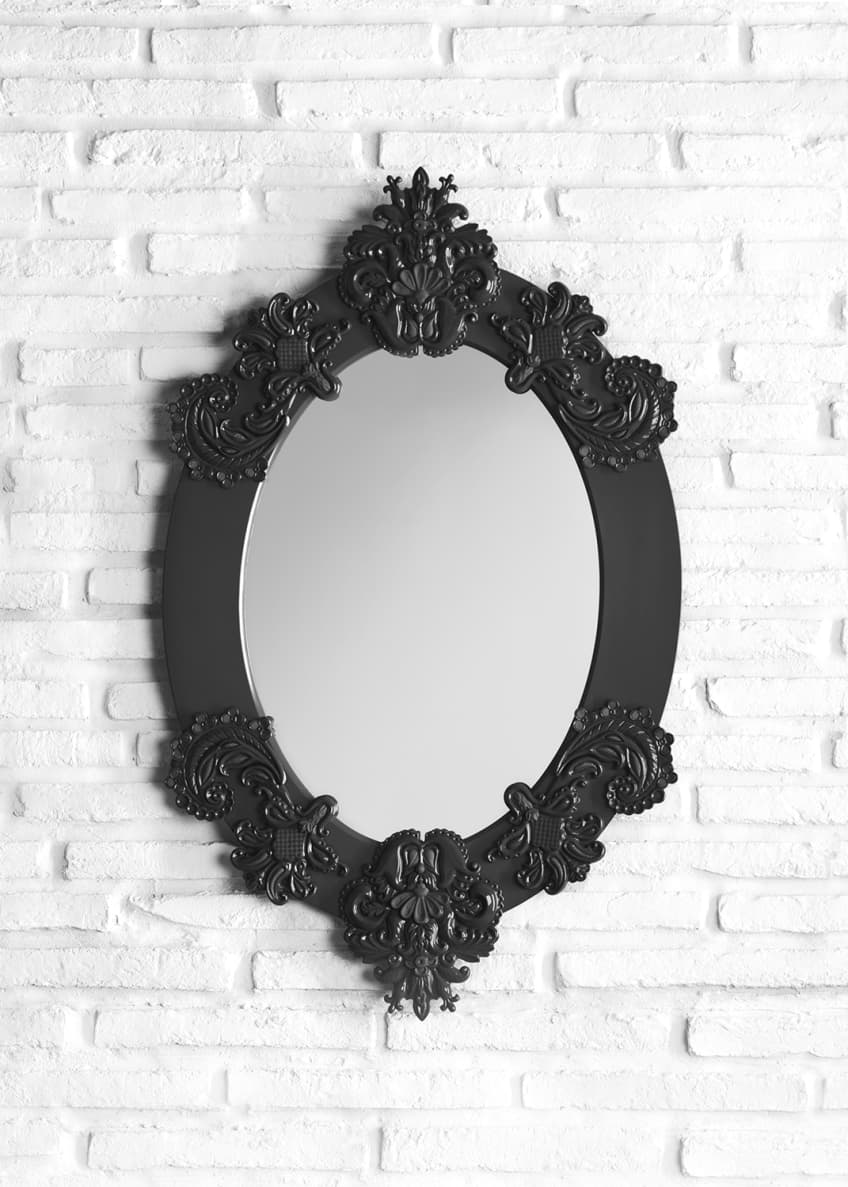Image 2 of 2: Framed Oval Mirror