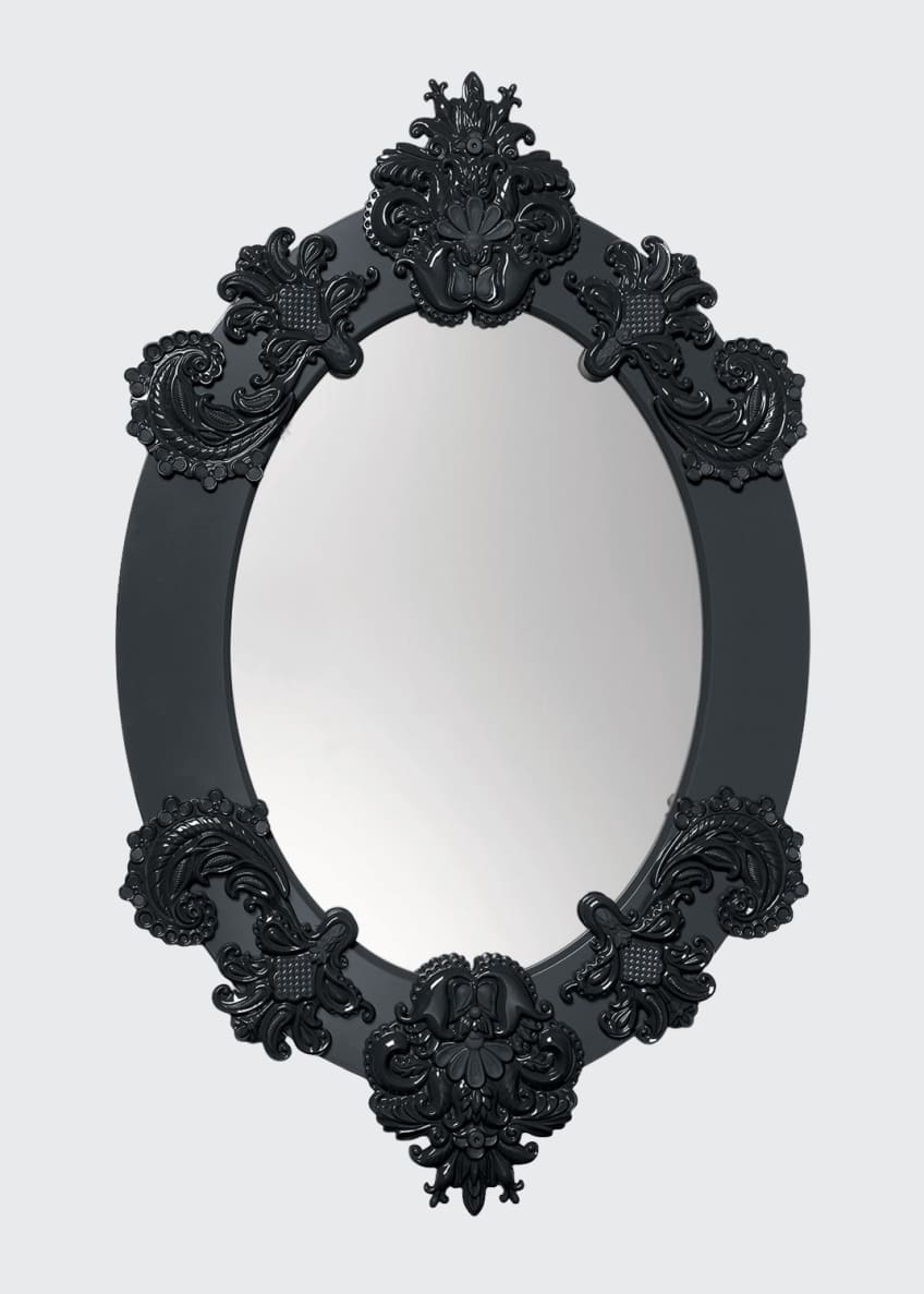 Image 1 of 2: Framed Oval Mirror