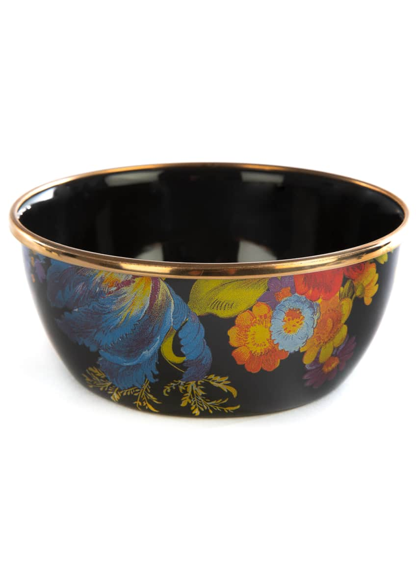 Flower Market Pinch Bowl, Black