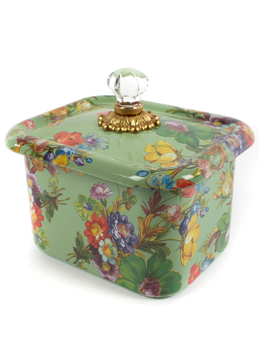 Image 1 of 1: Flower Market Recipe Box, Green