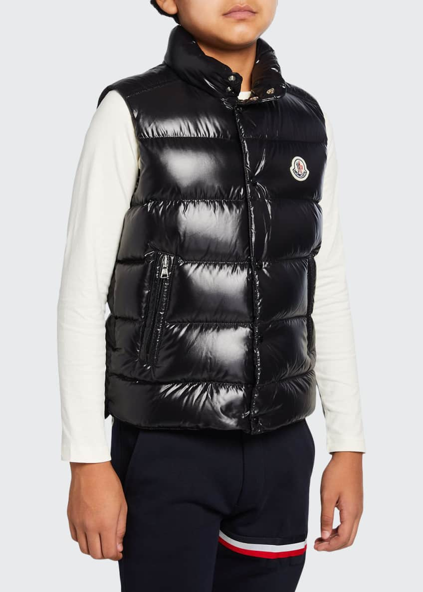 Tib Laque Mini-Me Down Puffer Vest, Size 4-6