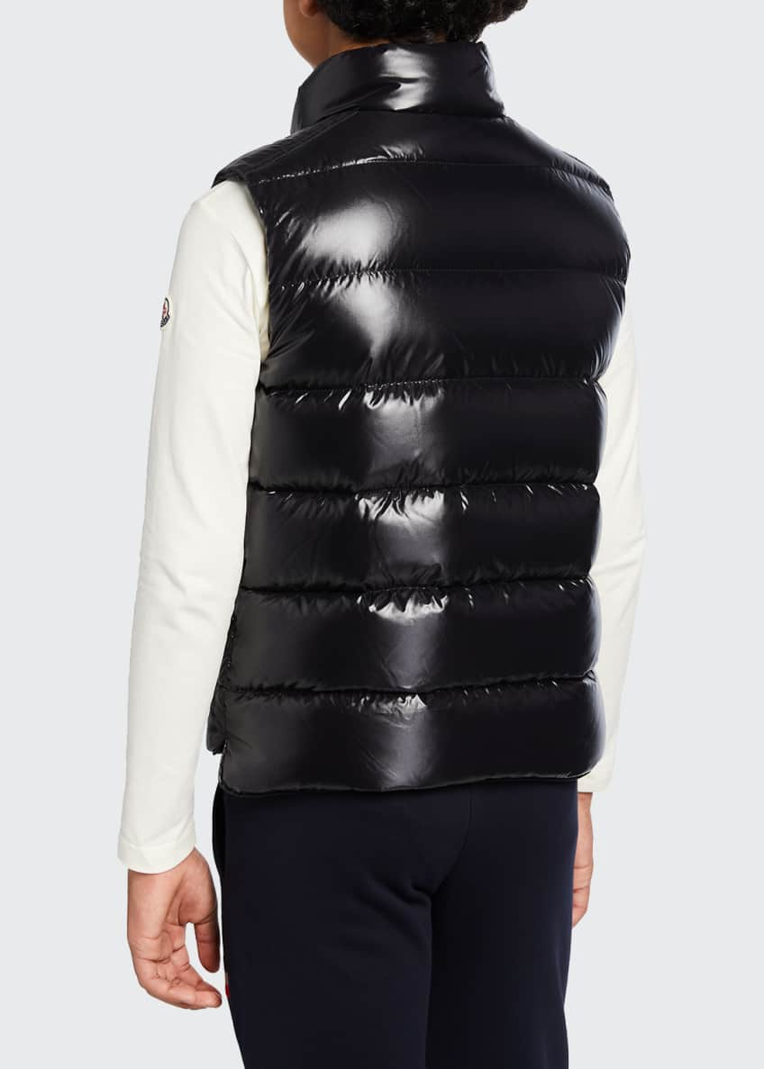 Image 3 of 3: Tib Laque Mini-Me Down Puffer Vest, Size 4-6