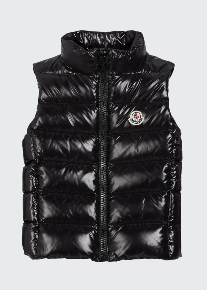 Image 1 of 2: Kid's Ghany Laque Quilted Puffer Vest, Size 4-6