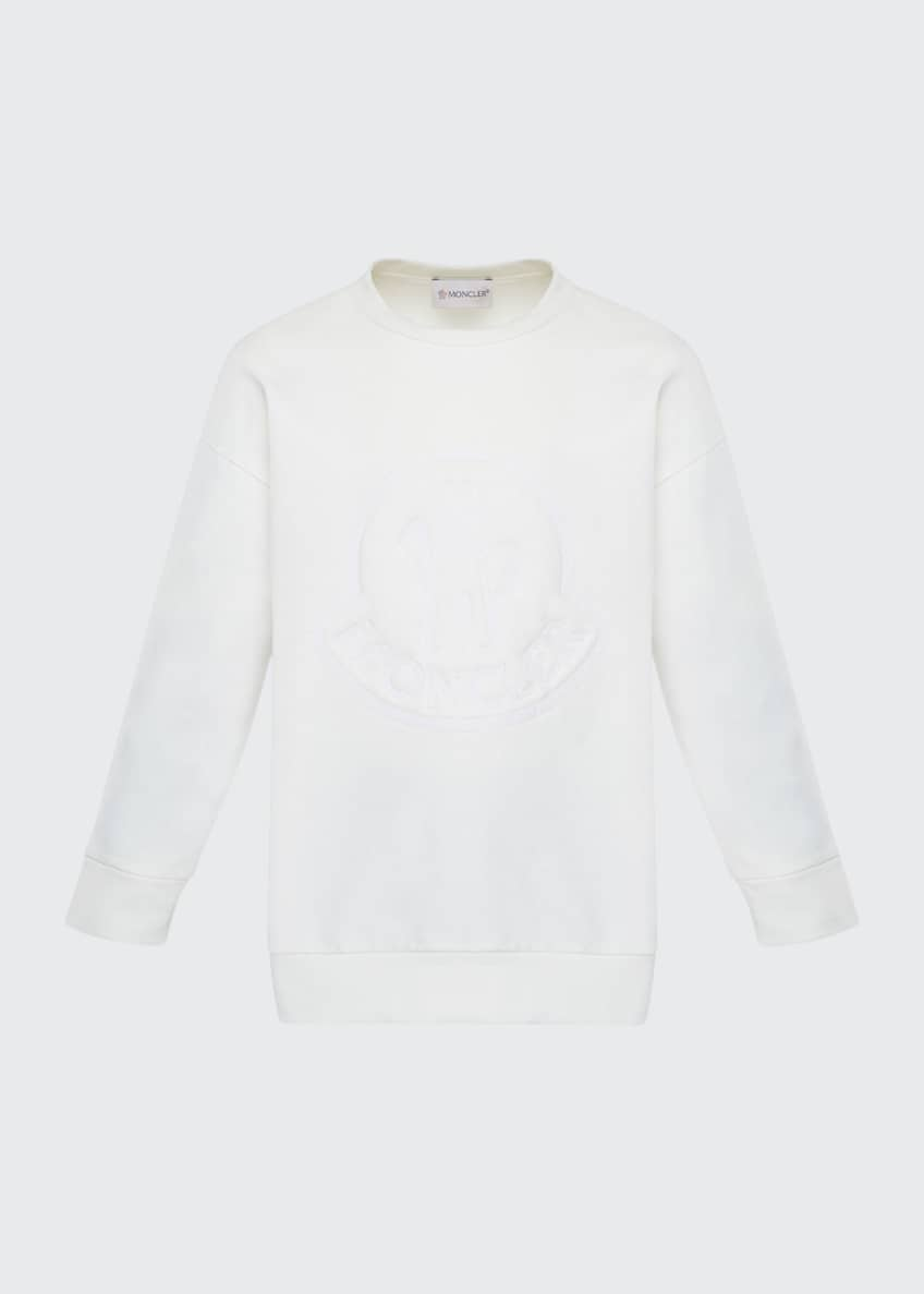 Image 1 of 3: Long-Sleeve Embroidered Sweatshirt, Size 4-6