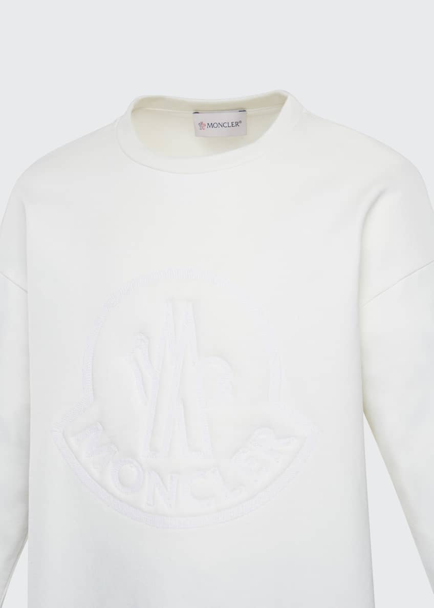 Image 3 of 6: Girl's Long-Sleeve Embroidered Sweatshirt, Size 8-14