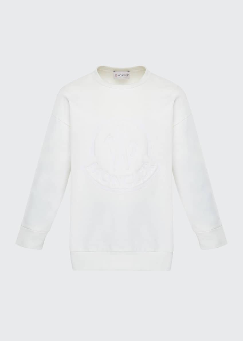 Image 1 of 6: Girl's Long-Sleeve Embroidered Sweatshirt, Size 8-14