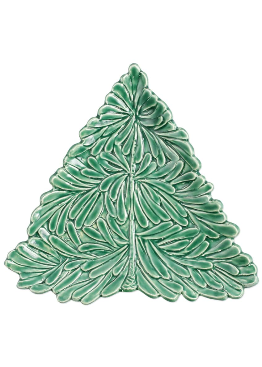 Image 2 of 2: Lastra Holiday Figural Tree Small Plate