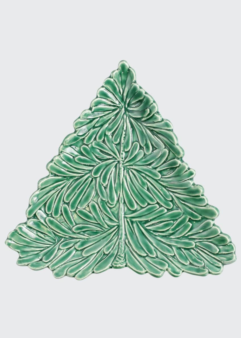 Image 1 of 2: Lastra Holiday Figural Tree Small Plate