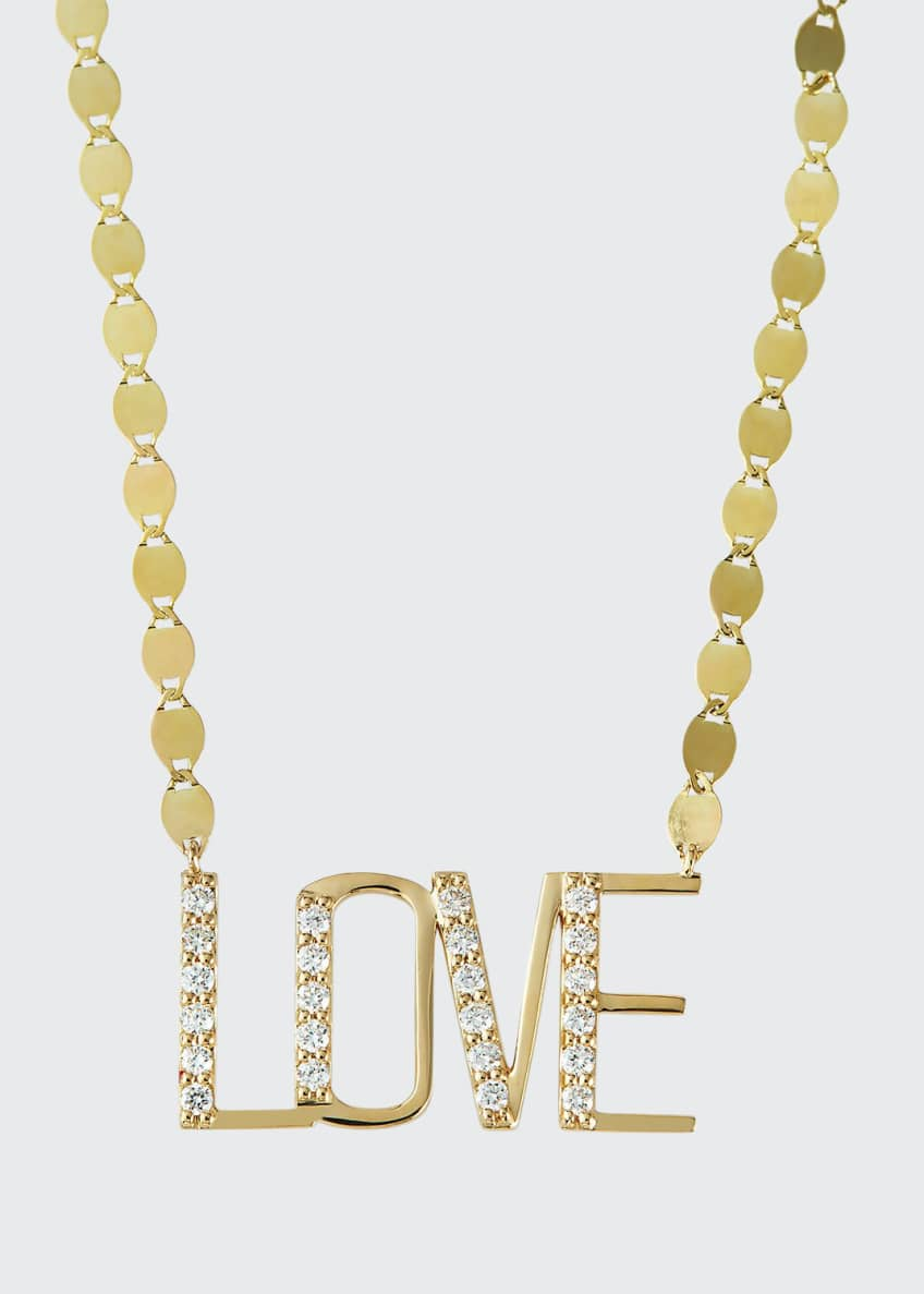 Image 1 of 2: Love Nameplate Necklace