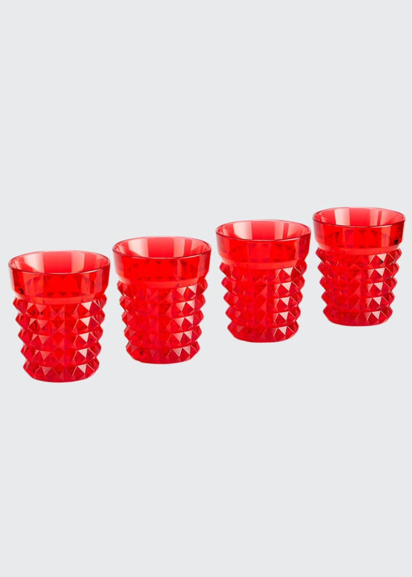 Image 1 of 1: Palazzo Red Tumblers, Set of 4
