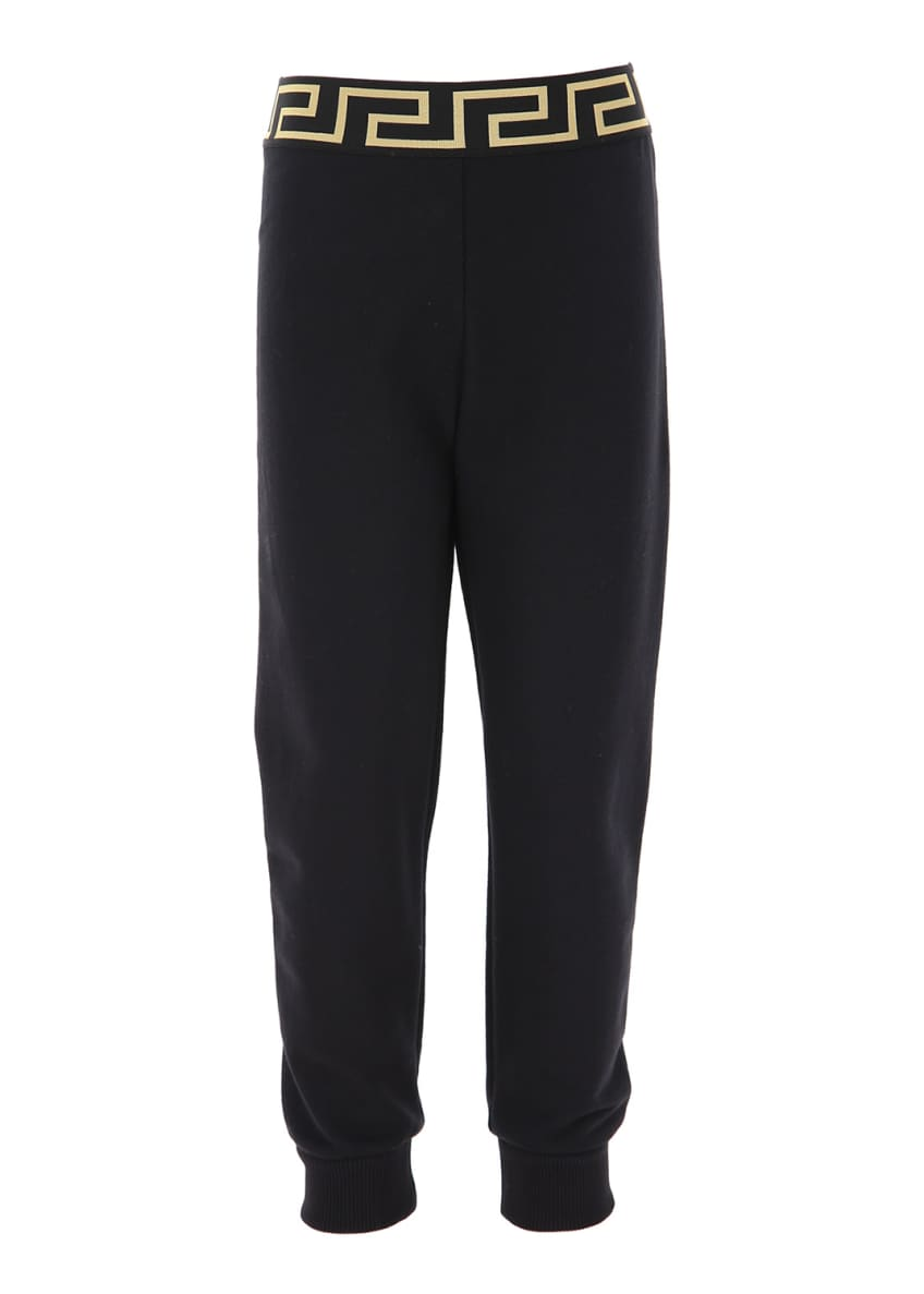 Image 1 of 2: Kids' Jog Pants With Greek Keys Waistband, Size 8-14
