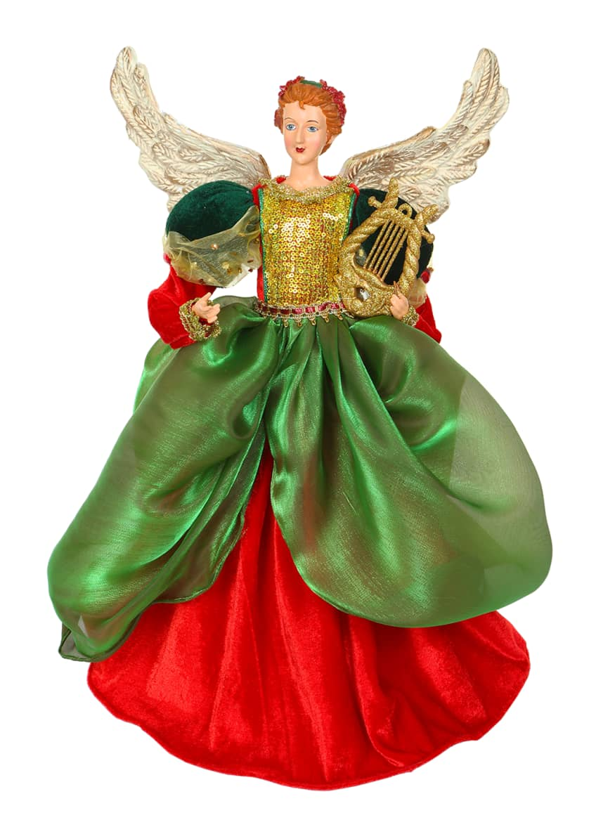 "Image 1 of 1: 19"" Green/Red Angel"