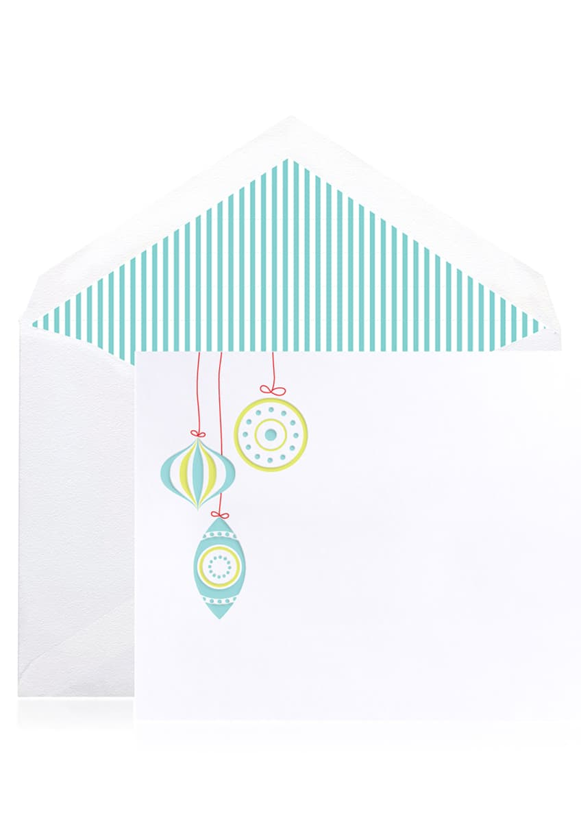 Image 1 of 1: Mod Ornaments Holiday Cards - Boxed Set of 10