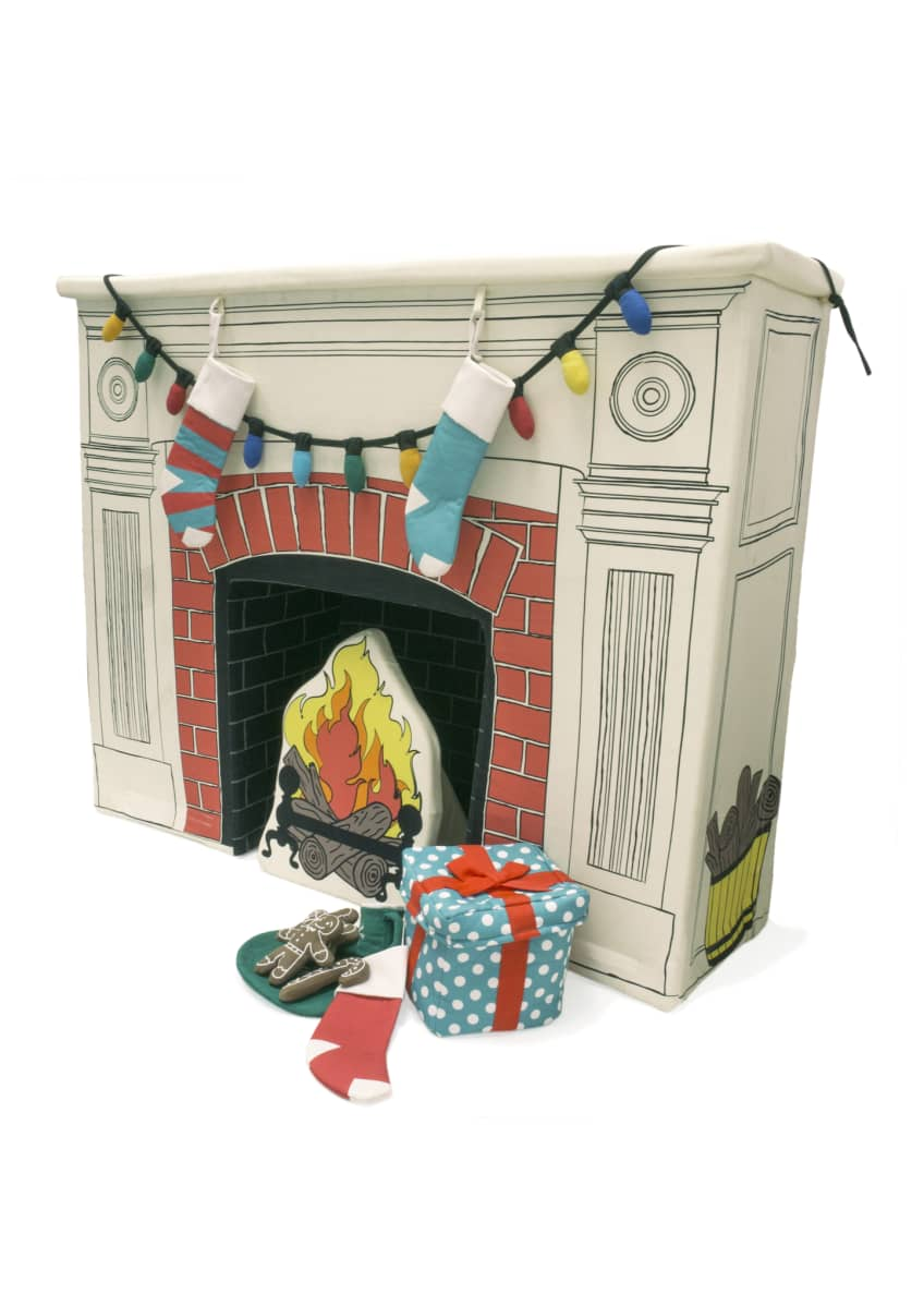 Image 2 of 4: Happy Hearth Fireplace Set w/ Accessories