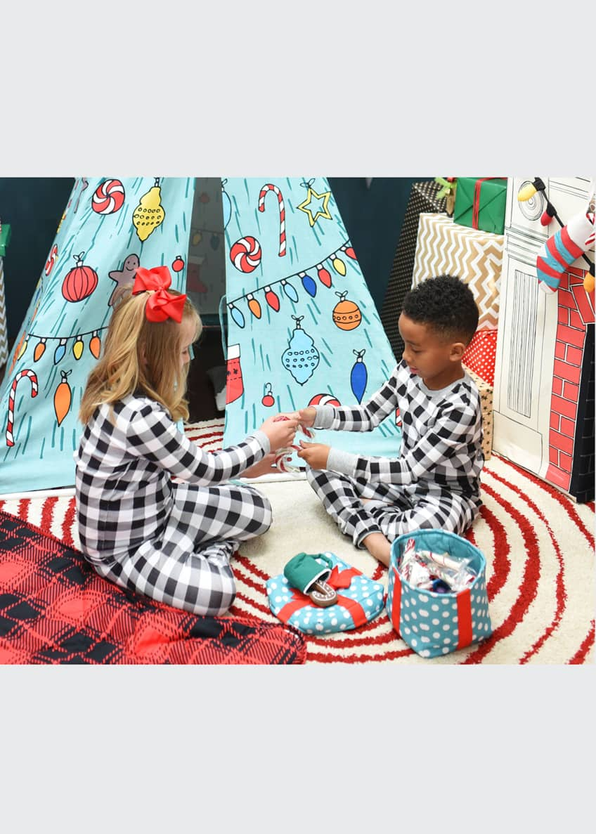 Image 2 of 4: Christmas Holiday Teepee and Fireplace Set