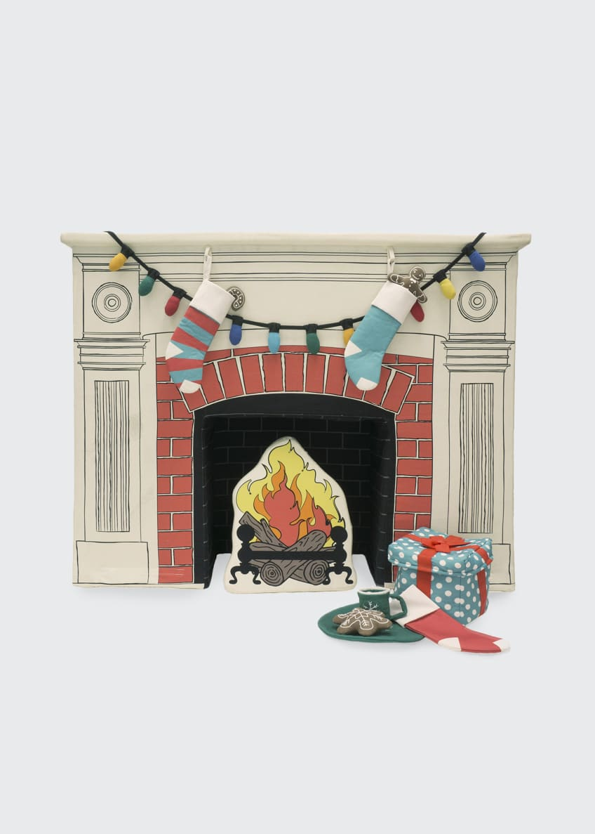Image 3 of 4: Christmas Holiday Teepee and Fireplace Set