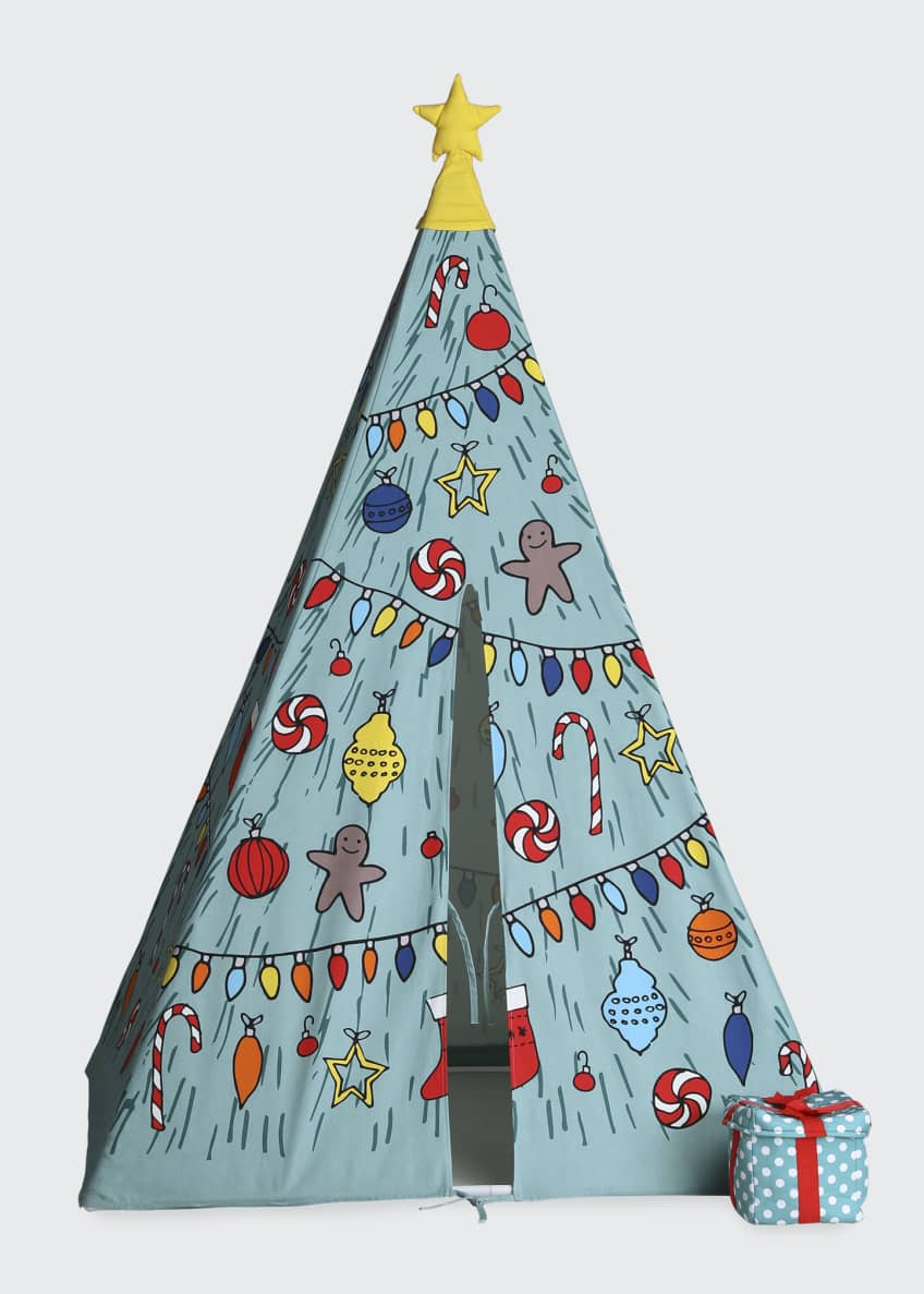 Image 4 of 4: Christmas Holiday Teepee and Fireplace Set