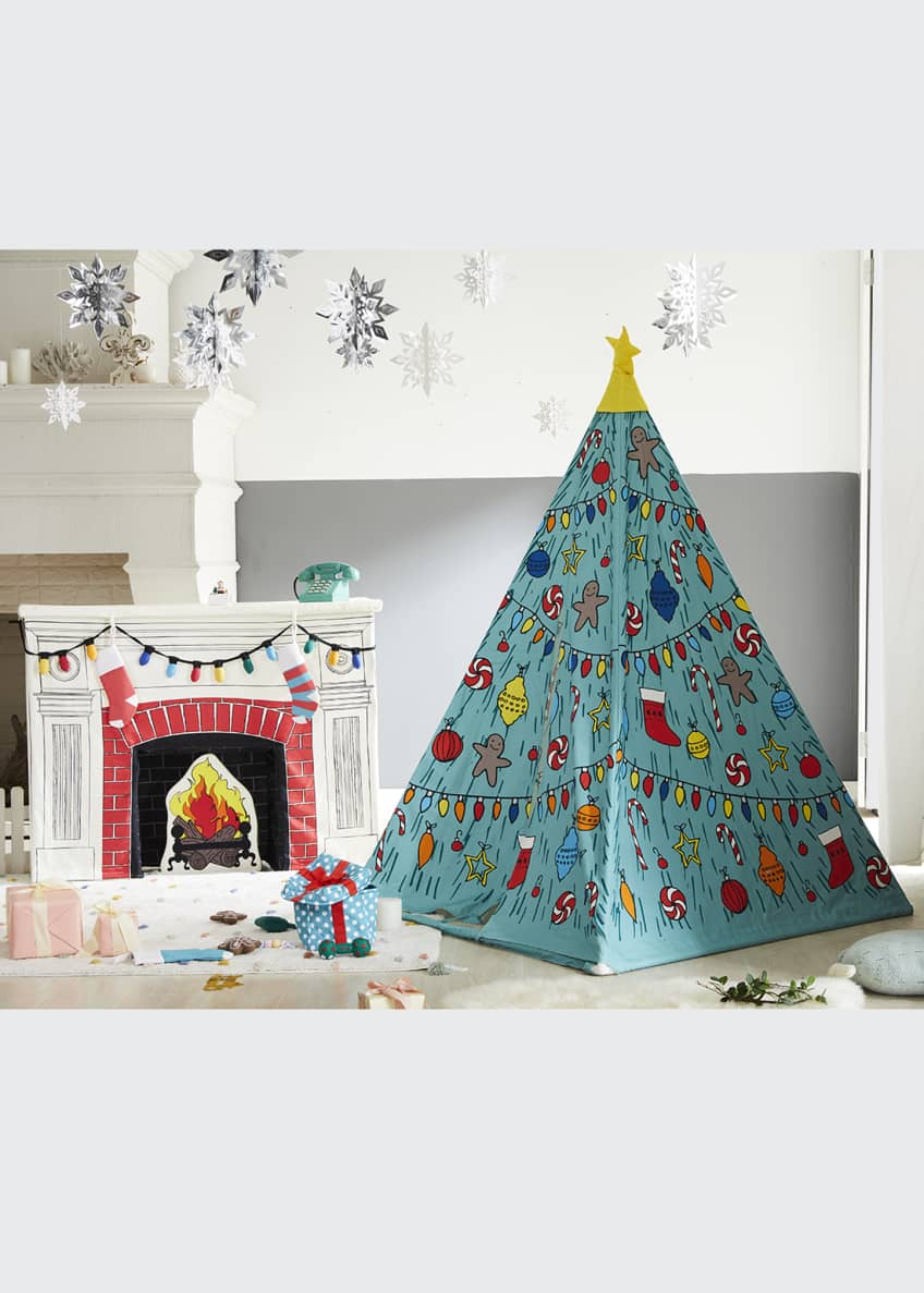 Image 1 of 4: Christmas Holiday Teepee and Fireplace Set