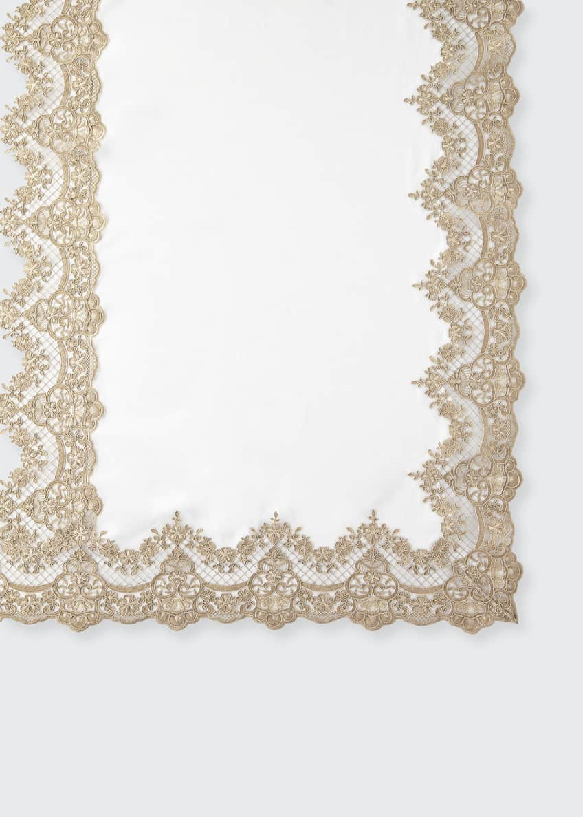 "Image 1 of 2: Antique Lace 72"" x 144"" Tablecloth & 12 Napkins"