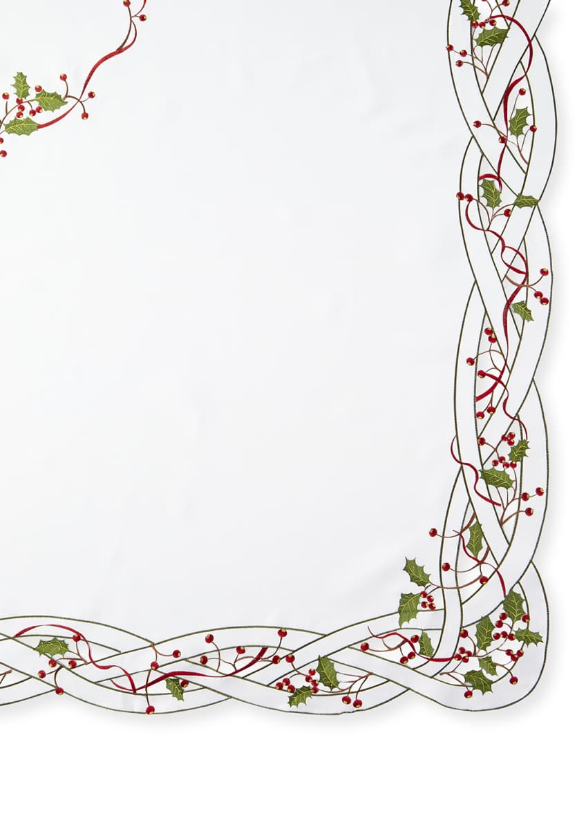 "Image 1 of 1: Holly Vine 72"" x 126"" Tablecloth & 12 Napkins"