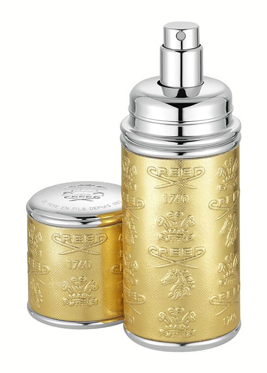 CREED 1.7 oz. Silver Trim/Gold Leather Atomizer - Bergdorf Goodman