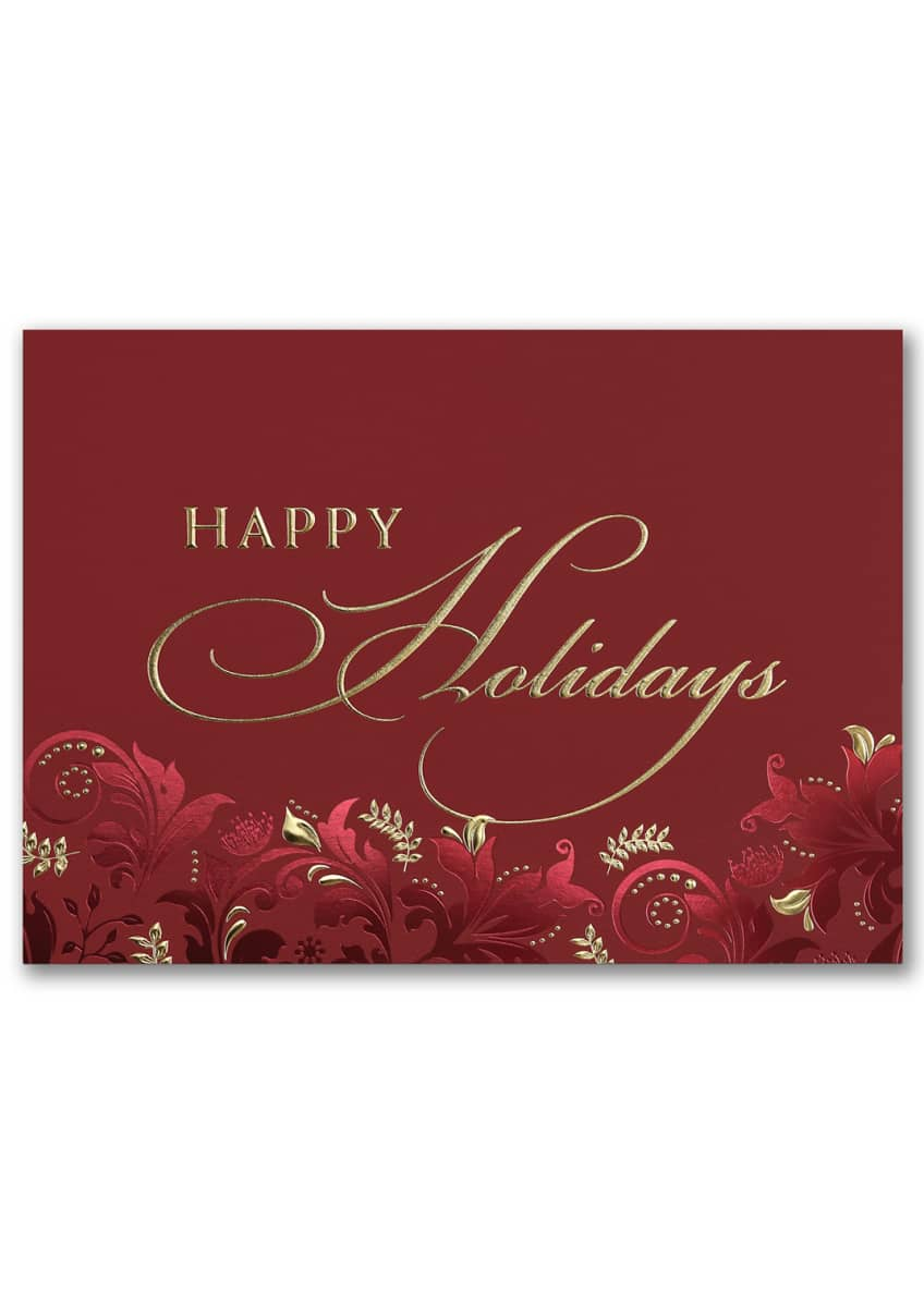Image 2 of 3: Exquisite Holiday Cards, Set of 25