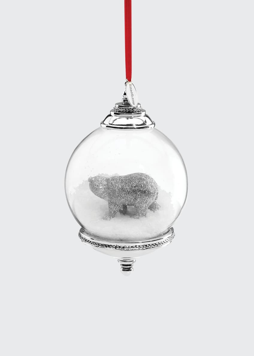 Image 1 of 1: Polar Bear Snow Globe Ornament