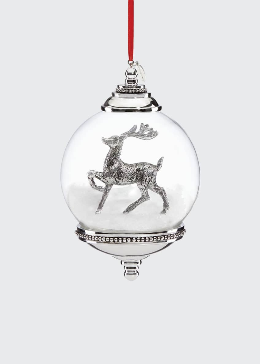 Image 1 of 1: Reindeer Snow Globe Ornament
