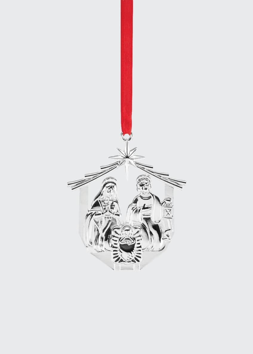 Image 1 of 1: Nativity Silver-plate Ornament