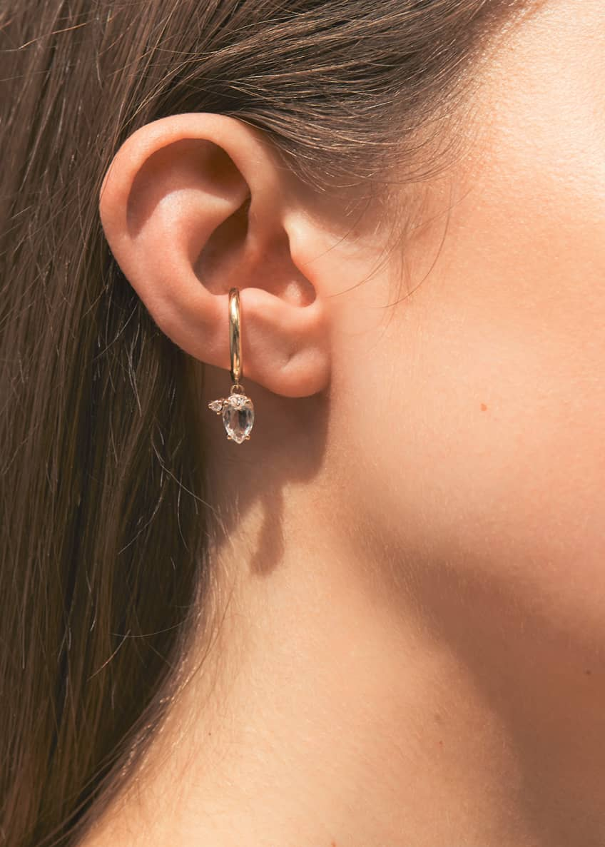 Image 2 of 2: Sea of Beauty 14k Topaz Ear Cuff with Diamond, Single