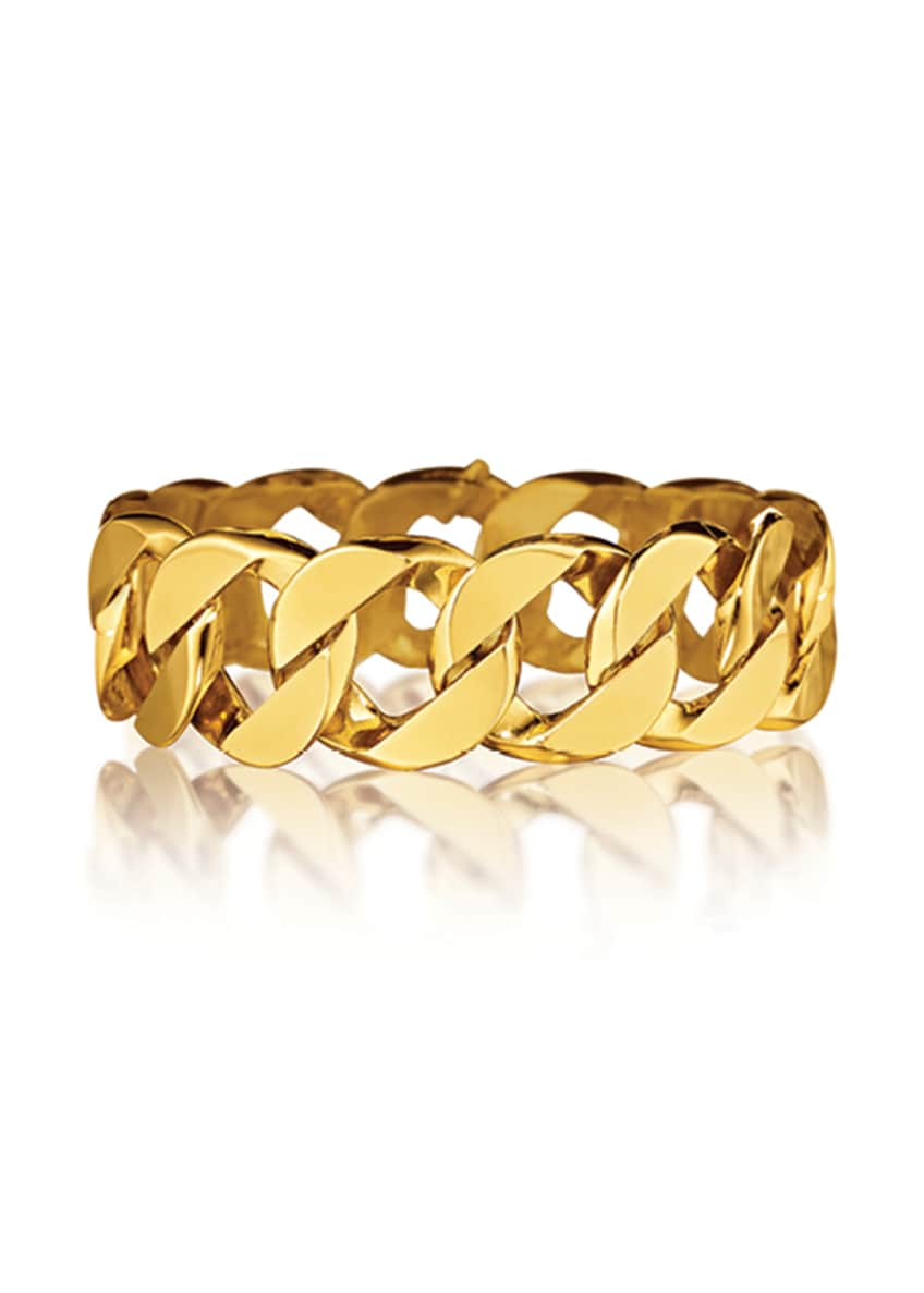 Image 1 of 1: 18k Yellow Gold Curb-Link Bracelet